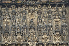 Elements of beautiful Cathedral on Zocalo, Mexico City Stock Photo
