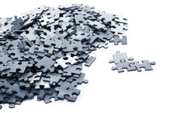 Elements of a blue puzzle Royalty Free Stock Images