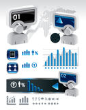 Elements of business and finance infographics.  Stock Image