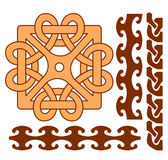 Elements of celtic ornaments Stock Photos