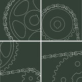 Elements of the chain drive Stock Images