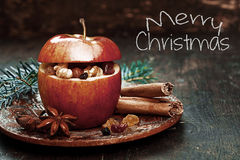 Elements in Christmas Holiday Apple Royalty Free Stock Photo