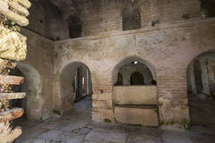 Elements of church architecture place of burial of St. Nicholas. In Demre, Turkey Royalty Free Stock Images