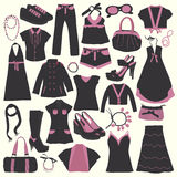 Elements of clothing store Royalty Free Stock Images