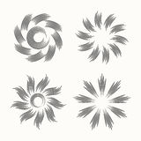 Elements collection circle floral. Royalty Free Stock Photos