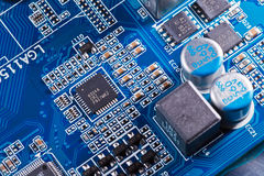 Elements of computer motherboard Stock Photo