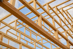 Elements constituting the roof of the wooden beams Japanese pagoda Royalty Free Stock Photo