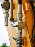 Elements of construction of old worn excavator Royalty Free Stock Images