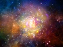 Advance of Void. Elements of Cosmos series. Composition of space and stars on the subject of mathematics, science, education and modern technology Stock Photo