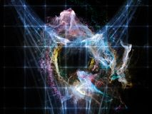 Realms of Void. Elements of Cosmos series. Composition of space and stars suitable as a backdrop for the projects on mathematics, science, education and modern Royalty Free Stock Photo