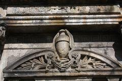 Elements of decoration of ancient stone monuments. In st. peterburg royalty free stock photos