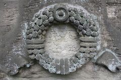 Elements of decoration of ancient stone monuments. In st. peterburg royalty free stock photo