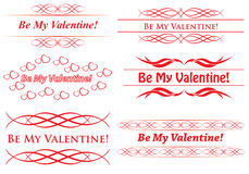 Elements for design - be my valentine - vector Stock Photo