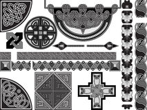 Elements of design in celtic Royalty Free Stock Photo