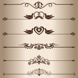 Decorative lines Stock Photos