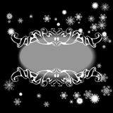 Elements for design greeting card with snowflakes Stock Image