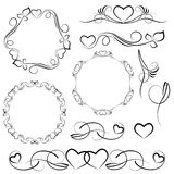 Elements for design with heart patterns Stock Photo
