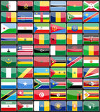 Elements design icons flags of the countries of Africa. Royalty Free Stock Photo