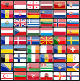 Elements of design icons flags of the countries of Europe. Stock Photo