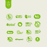 Elements for design. Set of elements for design - ecology, eco-friendly natural products and food. A vector Royalty Free Stock Photos