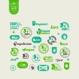 Elements for design. Set of elements for design - ecology, eco-friendly natural products and food. A vector Stock Photos