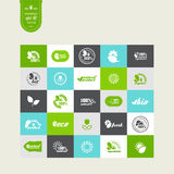 Elements for design. Set of elements for design - ecology, eco-friendly natural products and food. A vector Royalty Free Stock Images