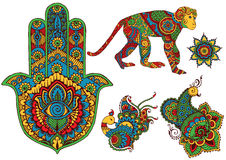 Elements of design in the style of mehndi Royalty Free Stock Photos