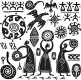 Elements for designing primitive art royalty free illustration
