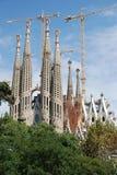 Elements and details temple Sagrada Familia Stock Image