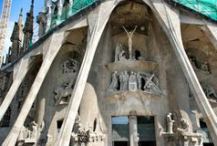 Elements and details temple Sagrada Familia Royalty Free Stock Images