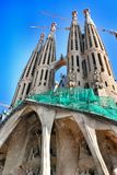 Elements and details temple Sagrada Familia Stock Photography