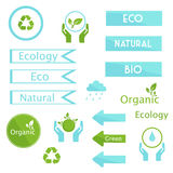 Elements of ecology signs and symbols Stock Photography