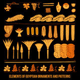 Elements of Egyptian ornaments Stock Images