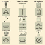 Elements of electric chain Royalty Free Stock Photos