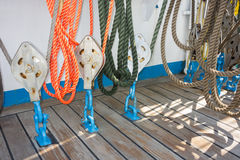 Elements of equipment of a yacht Royalty Free Stock Photo