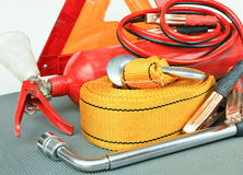 Elements of the essentials for a passenger car. Royalty Free Stock Photography