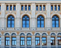 Elements of the facade of the Russian theater Chekhova in Riga Royalty Free Stock Image