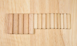 Elements of fastening pieces of furniture. Royalty Free Stock Photo