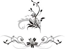 Elements of floral ornaments for design Stock Images
