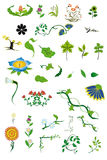 Elements of floral patterns Stock Photo