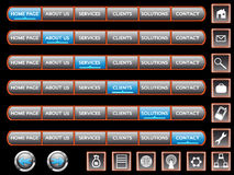 Elements fo web page Royalty Free Stock Photos