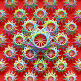 Elements are forming a design with repeating ornaments. Abstract background, 3d rendered elements are forming a design with repeating ornaments Royalty Free Stock Photography