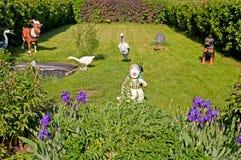 Elements of a garden landscape design Stock Photos
