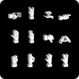 elements hand icon set Стоковые Фотографии RF
