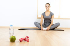 Elements of a healthy lifestyle Royalty Free Stock Photography