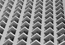 Elements of high-rise buildings in black and white Stock Image