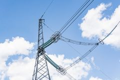Elements of a high-voltage power line with a voltage of 750,000 stock photo