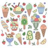 Elements ice cream. Stock Photo