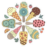 Elements ice cream. Royalty Free Stock Photo