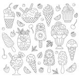 Elements ice cream. Royalty Free Stock Photos